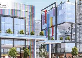 Artists impression of a Sheffield HQ for Channel 4